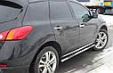 Пороги боковые (подножки-трубы с накладками) Nissan Murano 2008-2015 (Ø60), фото 2