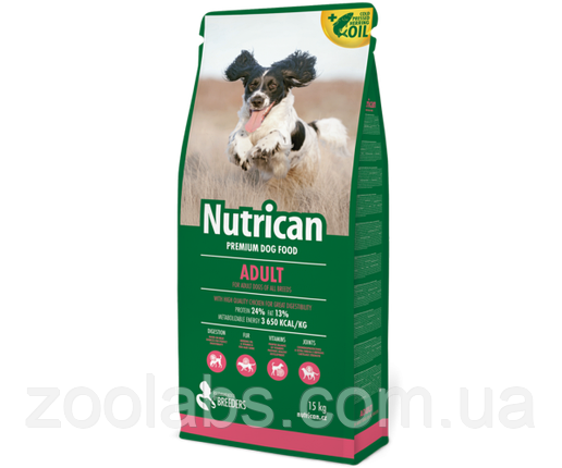 Корм Nutrican для собак | Nutrican Adult Dog 15 кг, фото 2