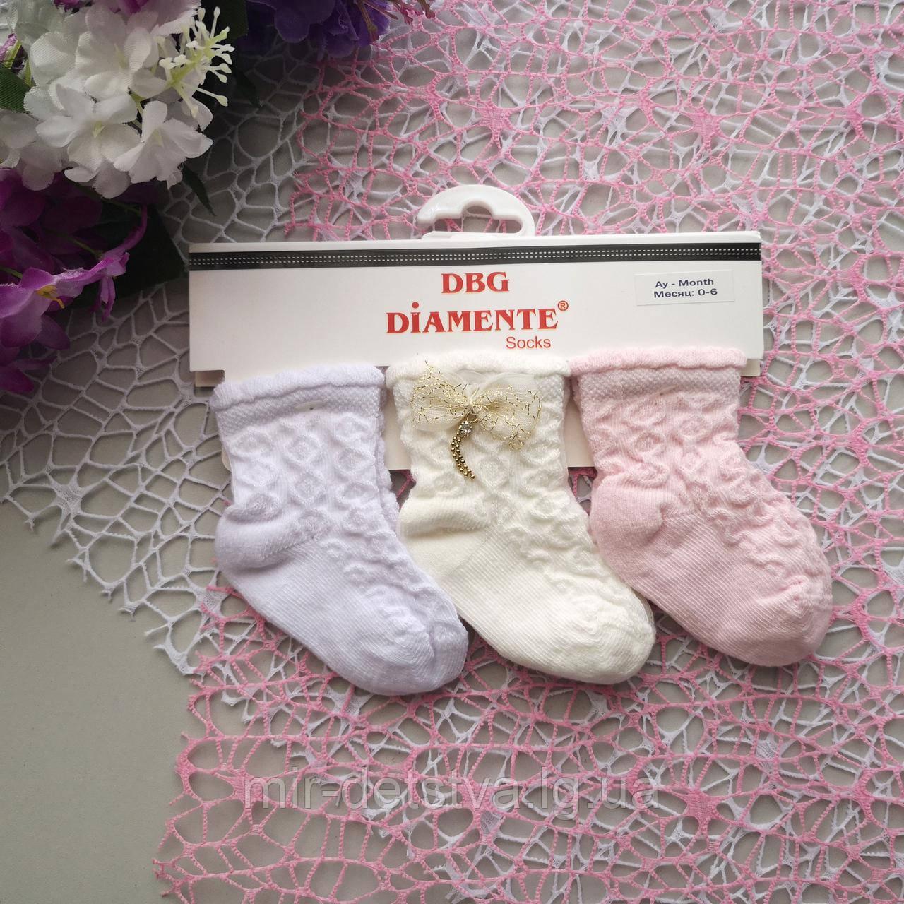 Ажурные носочки для девочек оптом TM DBG, Турция р.12-18 мес