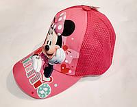 Модная  детская летняя  стильная кепка на девочку с Минни сетка 54 размер
