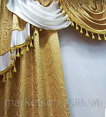 Шторы с ламбрекеном для спальни или гостиной, фото 2