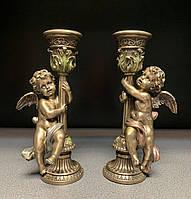 Набор подсвечников Veronese Ангелочки с бронзовым покрытием