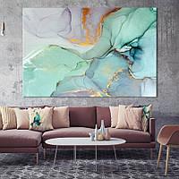 Стеклянное панно в гостиную - Мрамор- Абстракция Fluid Art