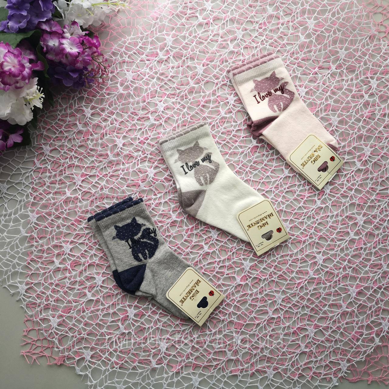 Демісезонні шкарпетки для дівчинки з малюнком ТМ DBG, Туреччина оптом р. 5-6 років