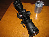 Прицел оптический миник Leapers BugBuster 3-9x32 AO Compact (SCP-M392AOLWQ) В комплекте быстросъемные кольца, фото 2