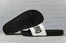 Шлепанцы женские 17393, Moschino, черные, [ 37 38 ] р. 37-23,8см.