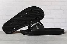 Шлепанцы мужские 17411, Calvin Klein Jeans, черные, [ 41 ] р. 41-26,3см.