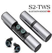 Портативные беспроводные наушники Samsung S2  с зарядным футляром