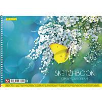 Альбом для малювання на пружині 30 арк. A4 картон PB-SC-030-270/Школярик