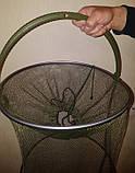 Садок рыболовный Condor d=40см, L=80 см, капрон 4 мм, фото 3