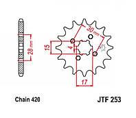 Звезда трансмиссии (передняя)   Delta   420-15T   JT SPROCKET   #JTF253.15