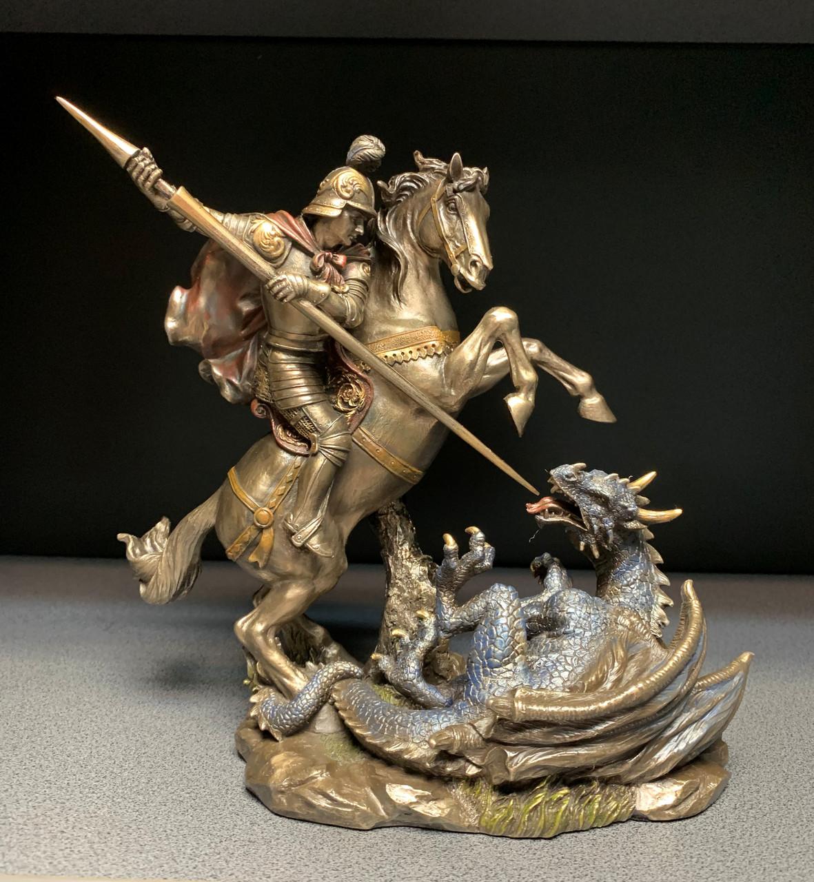 Статуэтка Veronese Георгий Победоносец на коне с бронзовым покрытием 75858A4