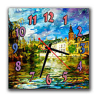 Классические настенные часы Буйство красок 30х30 см