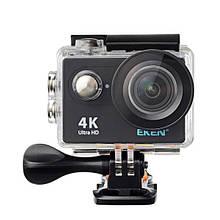 """Экшн камера экен 4К с дисплеем 2"""" и поддержанием блютуза, черная EKEN H9 4K black"""