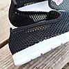 Сліпони чорні мокасини літні кросівки сітка текстиль жіночі легкі сліпони чорні арт 675, фото 2
