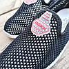 Сліпони чорні мокасини літні кросівки сітка текстиль жіночі легкі сліпони чорні арт 675, фото 4