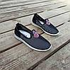 Сліпони чорні мокасини літні кросівки сітка текстиль жіночі легкі сліпони чорні арт 675, фото 5