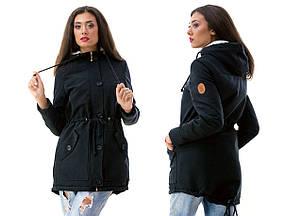 Женская куртка-парка батал , фото 2