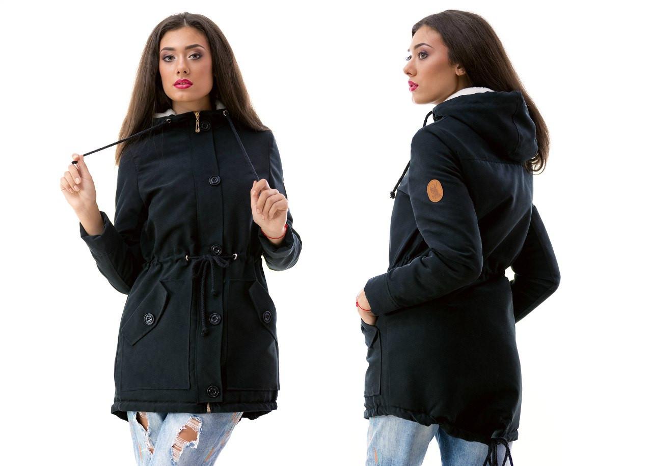 Женская куртка-парка батал