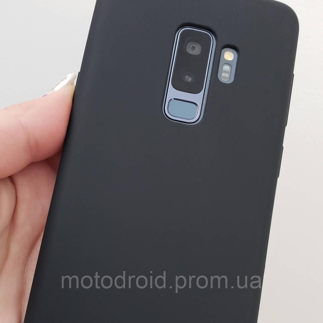 Чохол для Samsung Galaxy S9 Plus чорний матовий силікон