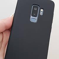Чохол для Samsung Galaxy S9 Plus чорний матовий силікон, фото 1