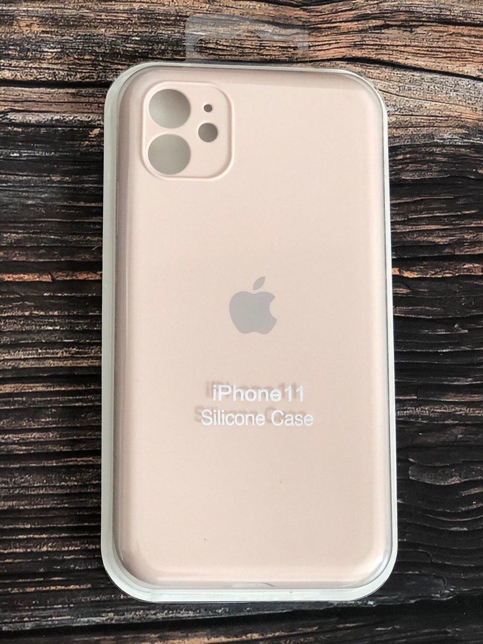 """Качественный силиконовый чехол с закрытым низом iPhone 11 (silicon case - Full Cover) """"Пудра - №19"""""""