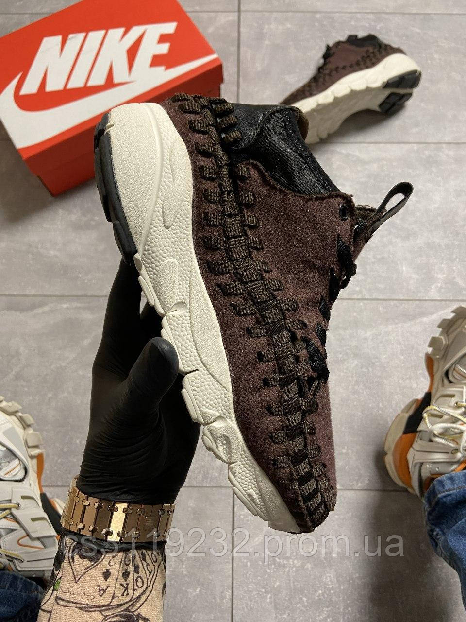 Мужские кроссовки Nike Footscape Woven Suede Brown (коричневый)
