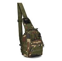 Сумка рюкзак тактическая городская повседневная TACTICAL B14 Green Camo (hub_WrOA75315)
