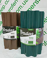 """Бордюр пластиковый садовый """"Bradas"""" 20смх9м.Волнистый."""