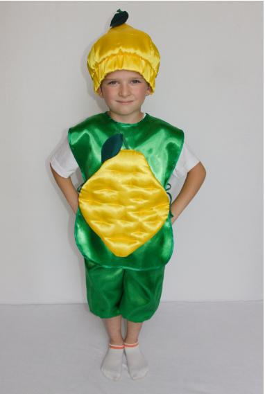 Детский карнавальный костюм Лимон от 3 до 6 лет