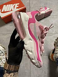 Женские кроссовки Nike Air Max 270 React Pink White (розово-белые)