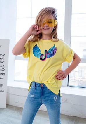"""Детская летняя футболка 0017 """"Крылья"""" в расцветках"""