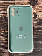"Чохол для iPhone 11 (silicon case - Full Cover) ""Pine green №58"""