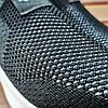 Кросівки сліпони без шнурків на товстій підошві текстильні чорні білі літні в стилі shark adidas, фото 4