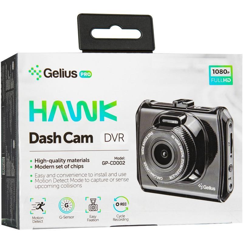 Видеореестратор Gelius Dash Cam Hawk GP-CD002 Black
