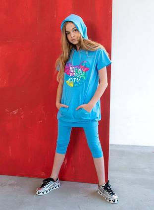 """Детский летний костюм для девочек 0016 """"NEW YORK CITY"""" в расцветках"""