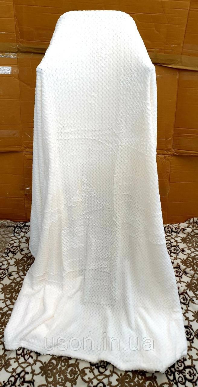 Плед покривало бамбукове (мікрофібра) Тм Koloko білий