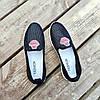 Сліпони чорні мокасини літні кросівки сітка текстиль жіночі легкі сліпони чорні кросівки сітка арт 675, фото 5