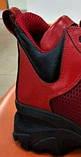 Женские кроссовки летние красные кожа на толстой подошве 455001, фото 2