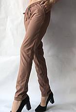 Женские летние штаны, софт №13 корич БАТАЛ, фото 3