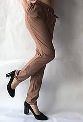 Женские летние штаны, софт №13 корич БАТАЛ