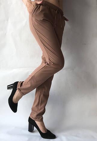 Женские летние штаны, софт №13 корич БАТАЛ, фото 2