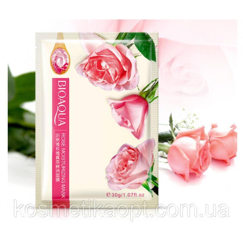 Тканевая маска для лица bioaqua rose moisturizing mask с экстрактом розы