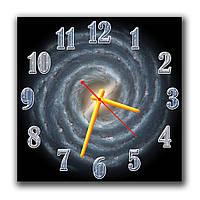 Оригинальные часы настенные в гостинную Торнадо  30х30 см