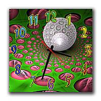 Оригинальные часы для дома Круглая абстракция 30х30 см