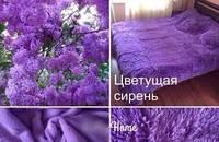 Плед покрывало меховое Травка Мишка Страус Пушистик на кровать 200х220 (евро), на подарок