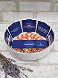 Форма для запікання кругла, білого кольору фірми Luminark, розмір 26 см, 2.8 л, фото 10