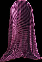Плед покрывало полоска флисовый Тм Koloko 160*210 фиолетовый