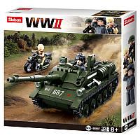 """Конструктор Sluban M38-B0687 """"Истребитель танков СУ-85"""", 338 дет, фото 1"""