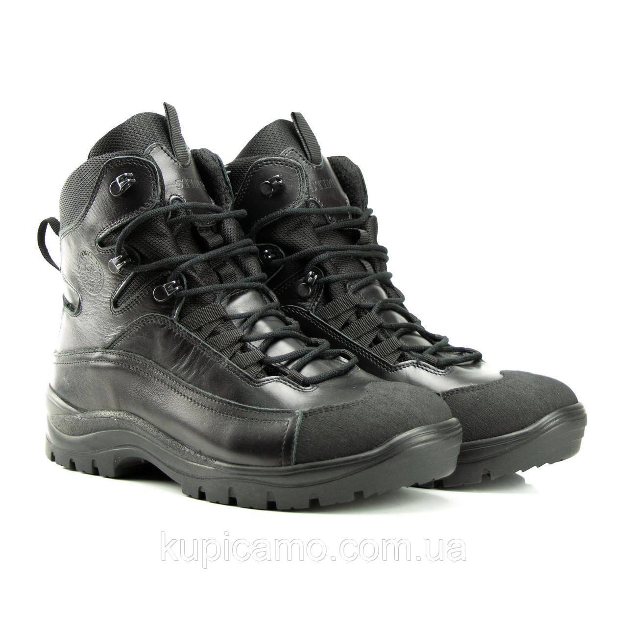 Ботинки Атаман зима (черный глянец)